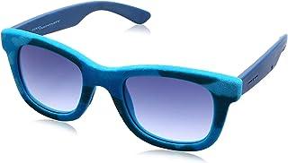 نظارة شمس بعدسات شبه مربعة ازرق متدرج وشنبر قطيفة للنساء من ايطاليا انديبندنت - تركواز