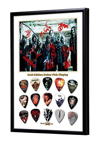 We Love Guitars Slipknot A Gold Gitarre Plektrum Framed Gerahmt Display Gitarren Picks (L50)
