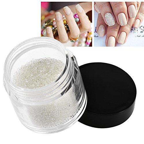 10g Mini Crystal Nail Perlen Transparente Dekoration Glänzende Glasperlen Maniküre Zubehör