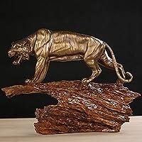 彫像置物彫刻、タイガー樹脂彫刻手作り野生動物像トーテム工芸品ビジネスのためのプレゼント、家の装飾アートコレクションをお楽しみください。