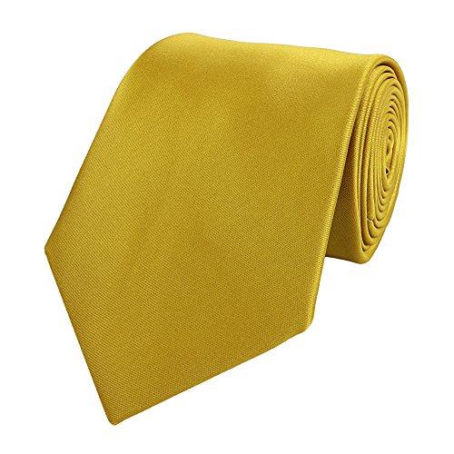 Krawatte von Fabio Farini in gold einfarbig
