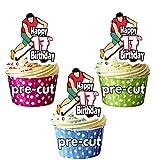 Decoración comestible para cupcakes o tartas de hockey sobre hierro, 12 unidades