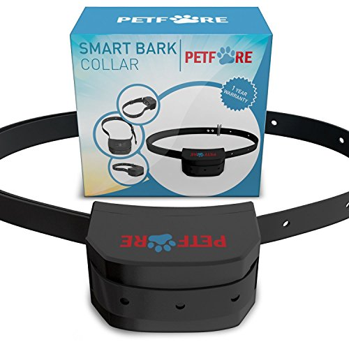 9 Adjustable Levels Bark Collar Dog Training System with Digital Display Sensitivity Control Electric Anti Bark Shock Collar with Manual By Petfore