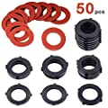 "DSMY 50PCS Garden Hose Washer Heavy Duty Rubber Washer?Fit All Standard 3/4"" Garden Hose and Water Faucet Fittings"