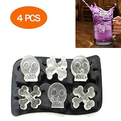 POWER BANKS Ice Cube Tray Schokoladenform-Set, Flexibler Silikon-Eiswürfelbereiter in Lebensmittelqualität in Formen für Whisky-EIS und Cocktails, ergibt 8 süße Formen