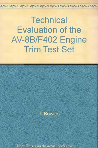 Technical Evaluation of the AV-8B/F402 Engine Trim Test Set