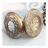 Reloj de bolsillo elegante clásico.Reloj de bolsillo, reloj clásico de bolsillo de conejo mágico de punk mágico vintage clásico, alice mágica espejo de hadas de conejo reloj mecánico hueco regalo conm