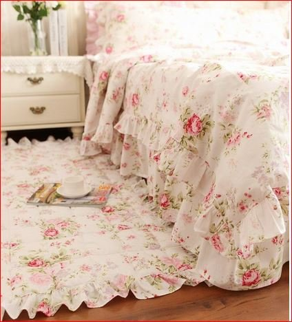 Juego de ropa de cama Shabby modelo Roselin para cama de matrimonio, 150 x 200 cm, funda nórdica/colcha de 200 x 230 cm, 2 unidades de 74 x 47 cm