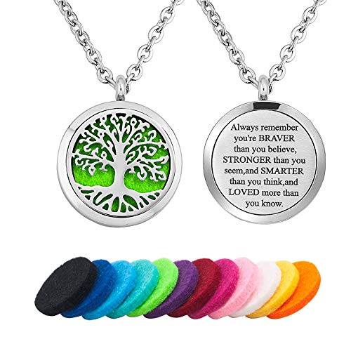 Moonlight Collection Celtic Jewelry Tree of Life Pendant Aromatherapy Diffuser Necklace