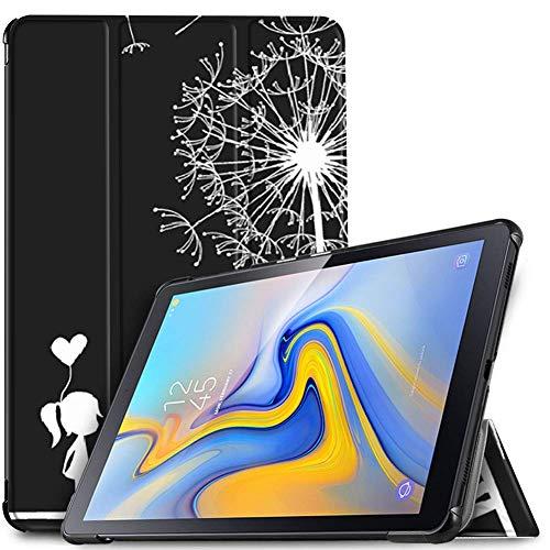 Slabo Tablet Hülle Hülle für Samsung Galaxy Tab A 10.5 SM-T590 | T595 (2018) Schutzhülle Sleep Wake Funktion & Magnetverschluss - SCHWARZ-Weiss