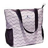 Original Floral Water Resistant Large Tote Bag Shoulder Bag for Gym Beach Travel Daily Bags Upgraded ([N] Pattern)