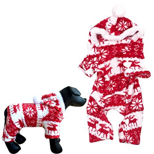 YUESEN Pet Dress Up Perro Disfraz de Patrón de Renos Felpa Suéter...