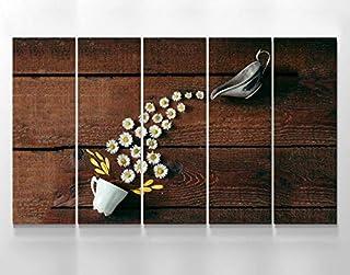 Meteor Gallery Food and Drink Kitchen Flowers Tasse à café Impression sur toile, art mural, planchers sur toile, ensemble ...