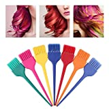 Yuyanshop Juego de 7 brochas de tinte para el cabello, aplicador de color profesional para teñir el cabello en salón