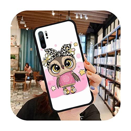 Lindo búho dibujos animados teléfono caso para Huawei honor Mate P 9 10 20 30 40 pro 10i 7 8 a x Lite nova 5t silicona suave funda-a1-huawei p20