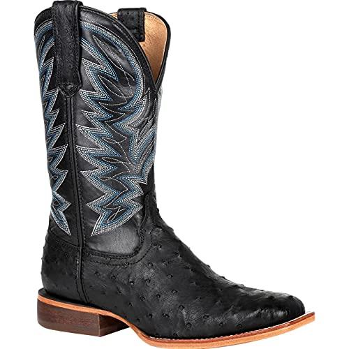 Durango Premium Exotic Full-Quill Ostrich Black Western Boot Size 7(M)