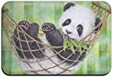 gfhfdjhf Cute Baby Panda Eating Bamboo Outdoor Rubber Mat Tapetes para Puertas Delanteras Porche Garaje Large Flow Slip Entry Alfombra Standard Rug Home 23.62'15.74' Fashion 11562