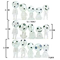 Princess mononoke Spirit toy will surely brighten and give light and life to your garden. Small and Cute Forest elves glow under the moonlight in the dark. The 15pcs of elves accessories are very good to be home, garden and desk decoration. Made of e...