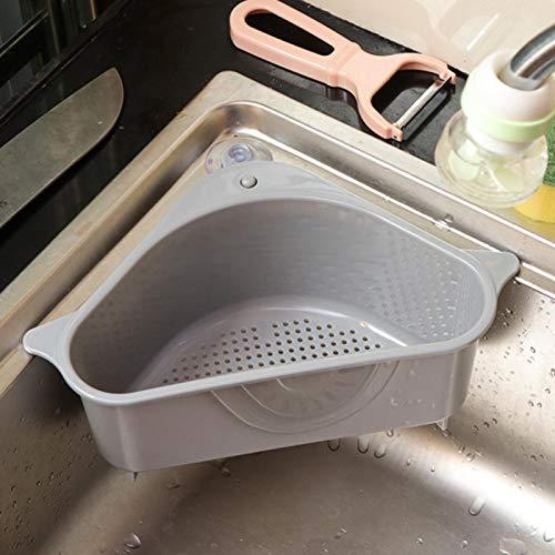 MOVKZACV Colador del fregadero, almacenamiento del soporte de la cesta del fregadero, estante de drenaje del fregadero que ahorra espacio, estante de drenaje de