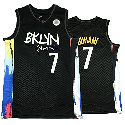 KHLKGMW Camiseta de baloncesto para hombre, Durant #7 City Edition Jersey bordado ropa de baloncesto, ligero, transpirable, sin mangas, camiseta S
