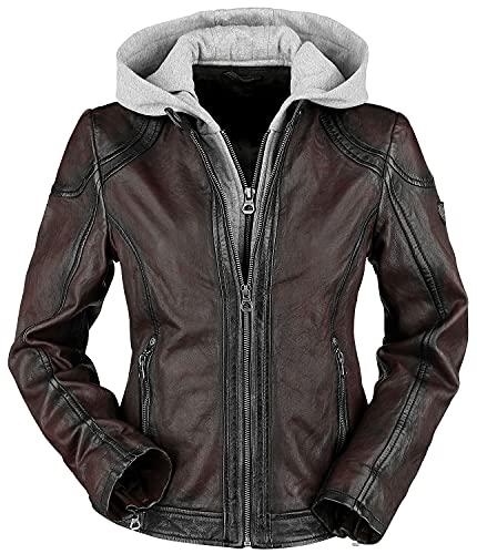 Gipsy Angy W18 LASANV Frauen Lederjacke dunkelrot XXL 100% Leder Basics, Biker