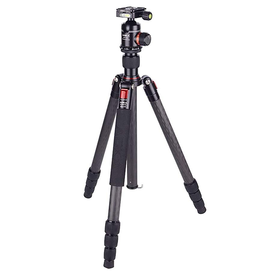 AOKA Professional Camera Tripod KT284C Durable Lightweight Carbon Fiber Tripod with 360 Degree Quick Release Plate