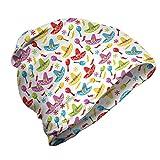 ABAKUHAUS Fiesta Gorro Unisex, Sombrero y Maracas, Tela Suave 100% Microfibra Estampada Ideal para Actividades al Aire Libre, Multicolor