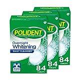 Polident Overnight Whitening Denture Cleanser