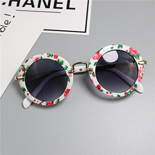 Lunettes de soleil pour bébé, lunettes de soleil UV, convient aux hommes et aux femmes, âgés de 1 à 3 ans, couleur de la fleur