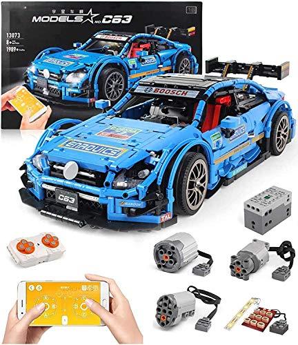 Conjunto de edificios automóviles Technic para el coche de carreras MERCEDES-BENZ, 2,4G RC Carry Car Construction Conjunto con motores expertos, bloques de 1968 piezas compatibles con la técnica LEGO