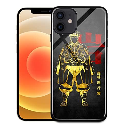 Demon Slayer Anime Himejima Gyoumei Caja de cristal dorado para iPhone 6...