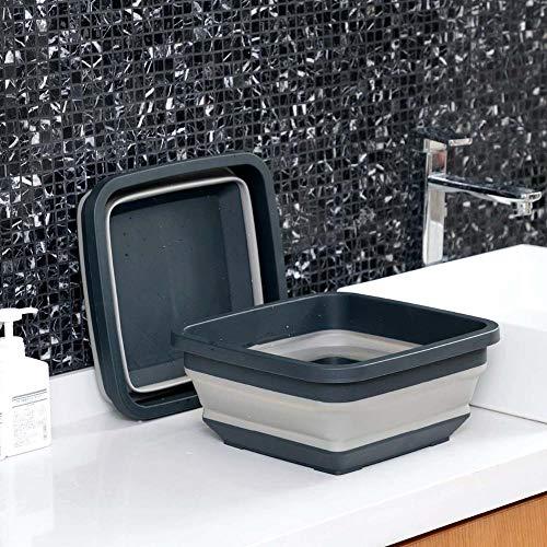 Alberta Klappbare tragbare Reise-Waschbeckens im Freienlager Basins Faltbare Fußbad Becken Kunststoff-Eimer Multifunktionale