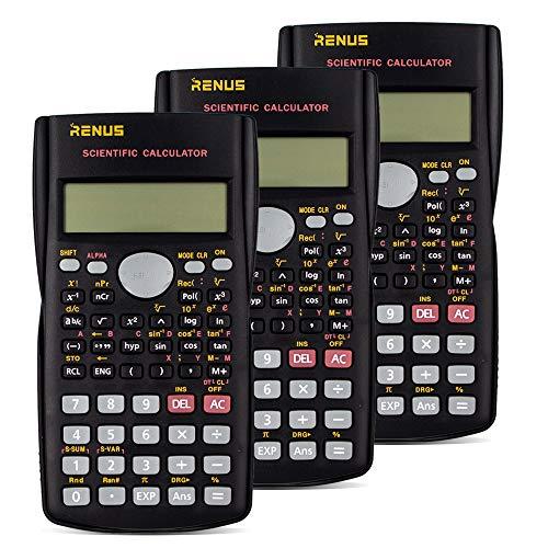 RENUS Wissenschaftlicher Taschenrechner, Zweizeilig Funktionsrechner Für Schüler und Lehrer