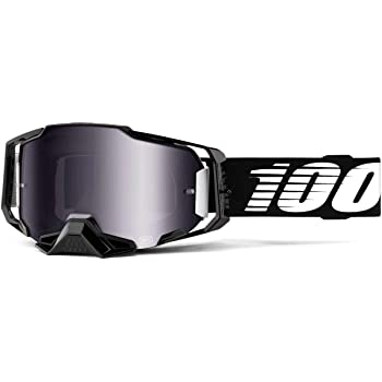 100% Armega Adult Off-Road Motorcycle Goggles - Black/Silver Lens/One Size