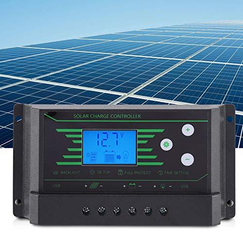 Changor Poder-Apagado Solar Controlador, 14.7 * 7.4 * 3.2 cm -35℃~60℃ 12v/24v Auto Batería Inteligente Regulador El plastico por Familia