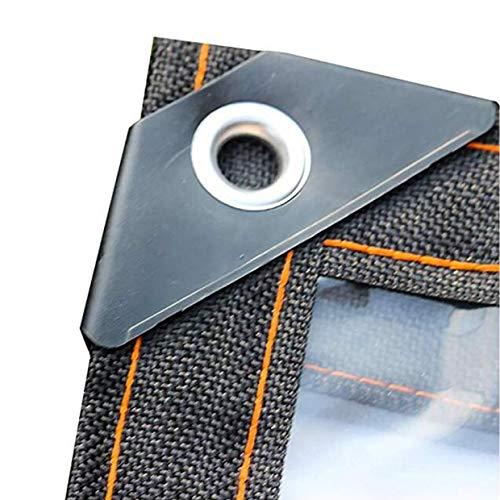 LLCXL transparant dekzeil waterdicht, transparant canvas met metalen oog afdekrooster design A twee sterke en duurzame verwarming
