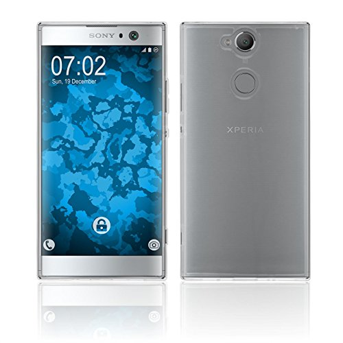 Preisvergleich Produktbild PhoneNatic Case kompatibel mit Sony Xperia XA2 - Crystal Clear Silikon Hülle transparent Cover