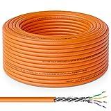 deleyCON 30m Cat.7 Cable de Instalación Cobre Rígido S/FTP PIMF Cable de Red Cable de Instalación Cable LAN Cable de Ethernet Cable de Datos Gigabit CAT7 10Gbit 1000MHz LSZH Libre de Halógenos DOP