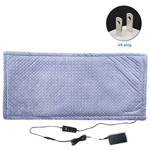 Masajeador con calor Almohadilla de calefacción de la terapia del abdomen del colchón para la cama eléctrica del sofá cama eléctrica Winter Warm Franel Security con 6 configuraciones Para oficinas, ho