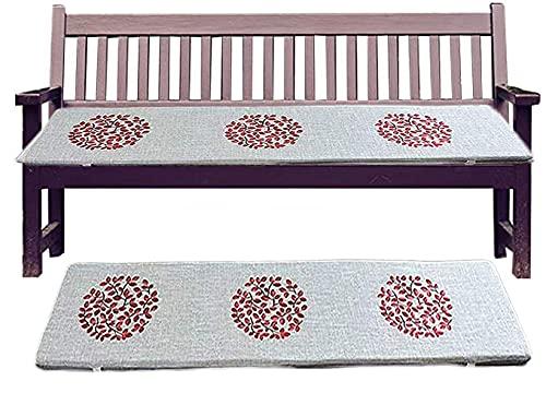 Yzzseason, cuscino per panca da giardino, spessore 3/5 cm, con ricamo a mano, spugna ad alta densità a 2/3 posti, cuscino per sedia a dondolo per mobili da patio (A,40 x 80 x 5 cm)