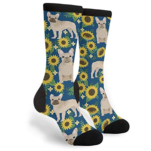 French Bulldog Socks Men's Women's Novelty Crew Socks Funny Crazy Socks Gift