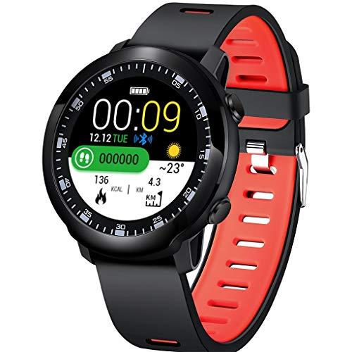 LQIAN Fitness Tracker, SW05 Smart Watch Armband mit Pulsmesser Schlafmonitor, IP68 wasserdichter Schrittzähler, SMS Erinnerung Bluetooth Activity Tracker Männer Frauen, Kompatibel mit Android iOS