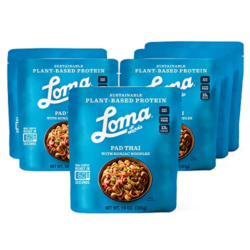 Loma Linda Blue - Plant-Based Complete Meal Solution - Pad Thai with Konjac Noodles (10 oz.) (Pack of 6) - Non-GMO, Gluten Free