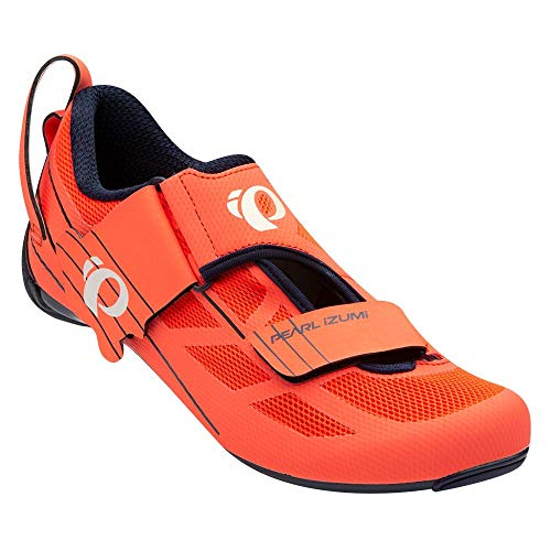 PEARL IZUMI Women's Tri Fly Select v6 Cycling Shoe, Navy/Fiery Coral, 39.0