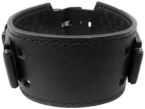 Correa de reloj de piel negra para Casio Collection WV-300LA IRW-100BJ XL longitud