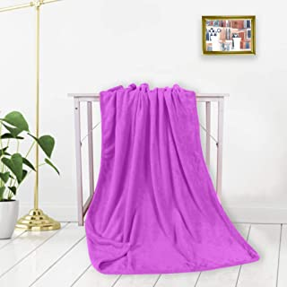 Home,Garden,Home Textiles,Solid Soft Living Room Bedroom Air Conditioning Bed Blankets For Sofa Bedding Coral Velvet Blanket Flannel Blanket 100x120cm Light Purple