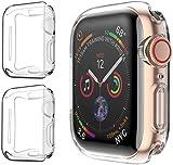 PEYOU Funda para Apple Watch 40mm Series 4/Series 5 (2 Unidades), Suave TPU Funda [Cobertura...