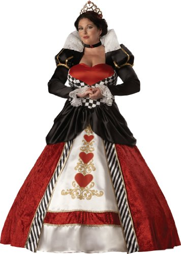 Big Sale InCharacter Costumes, LLC Women's Queen Of Hearts Costume with Hoop and Tulle Petticoat, Red/White/Black, XXX-Large