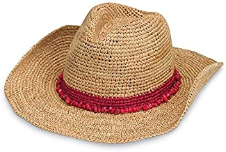 Wallaroo Hat Company Women's Tahiti Cowboy Sun Hat – Raffia, Modern Cowboy, Designed in Australia.