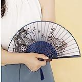 HUIJUNWENTI Ventilador plegable hembra, ventilador plegable de viento antiguo, ventilador pequeño de estilo chino for mujeres, regalos creativos, ventilador de baile for estudiantes, regalo chino port